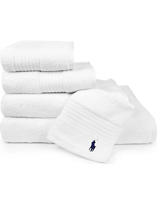 RALPH LAUREN HOME: Player towels white