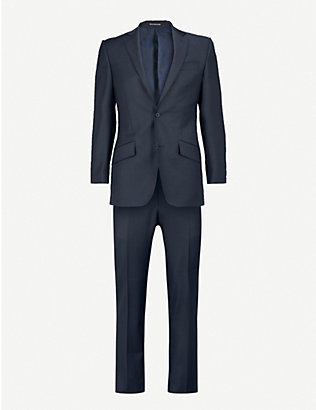 RICHARD JAMES: Sharkskin regular-fit suit
