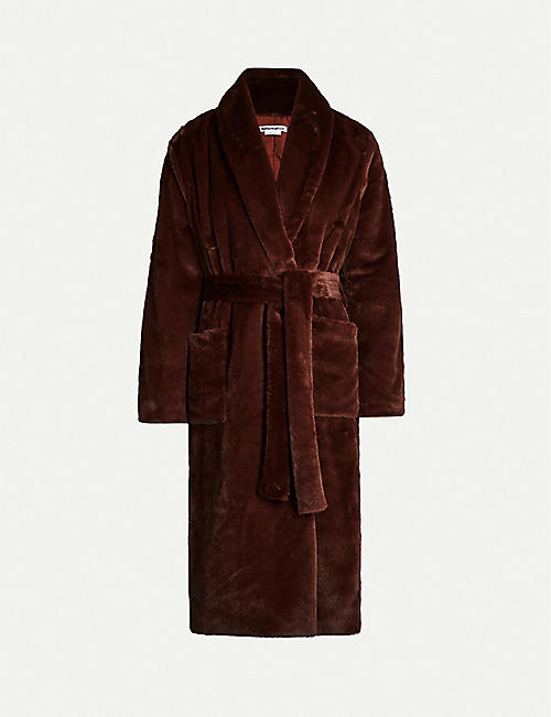 REFORMATION: Hudson faux-fur belted coat