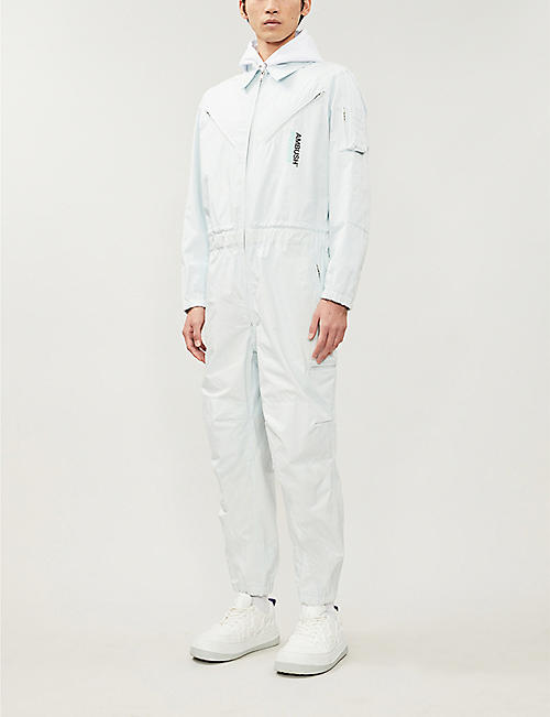 AMBUSH Logo-print cotton jumpsuit