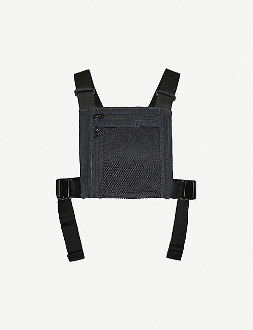 ZIQ & YONI Logo patch woven chest bag