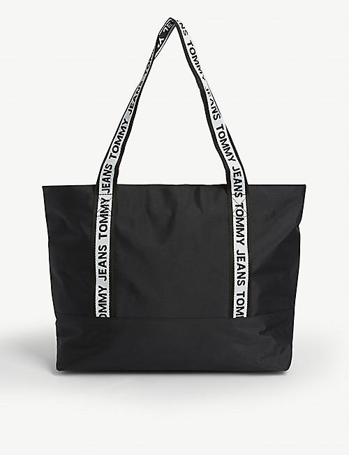 TOMMY JEANS Logo tape nylon tote bag
