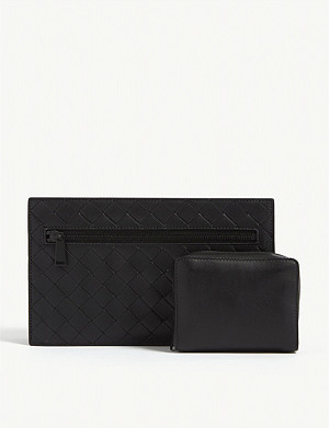 BOTTEGA VENETA Intrecciato weave leather travel case