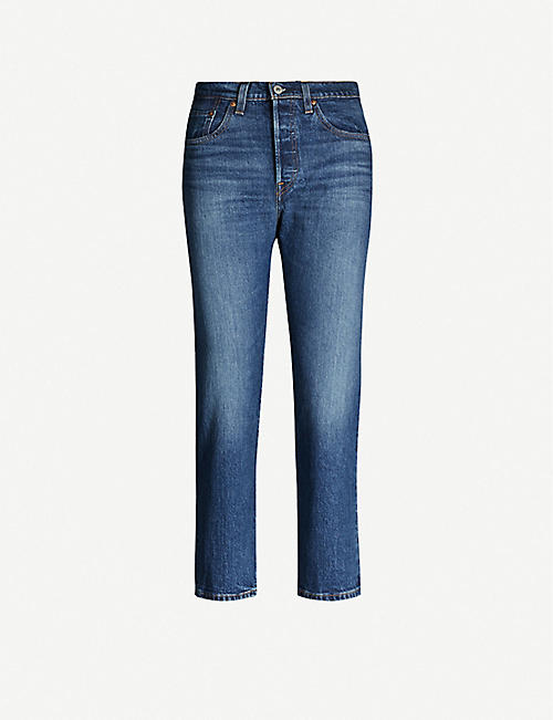 LEVIS: 501 cropped straight high-rise jeans