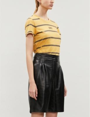 logo-print-striped-cotton-jersey-t-shirt by levis