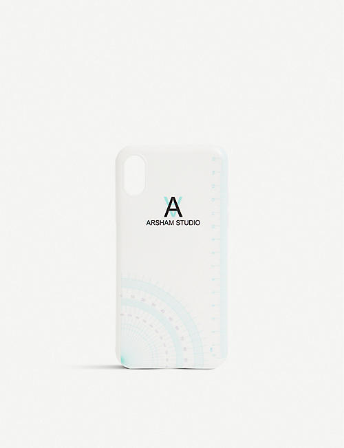 DANIEL ARSHAM Compass logo-print iPhone X Case