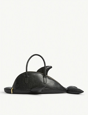 THOM BROWNE Dolphin leather tote