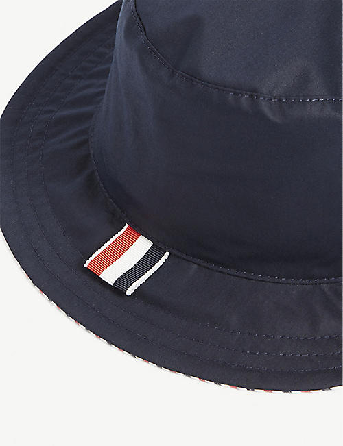 THOM BROWNE Reversible bucket hat