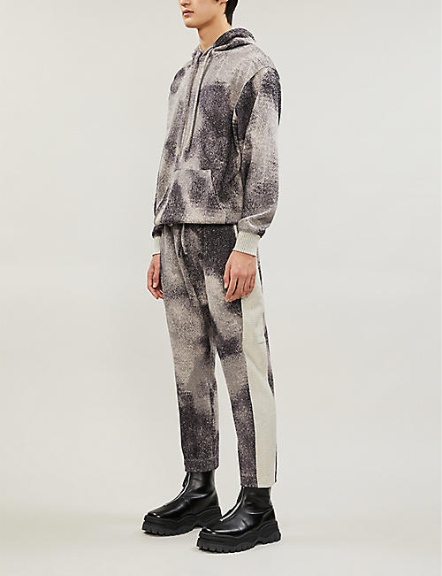 TWENTY Graphic-print cotton-jersey jogging bottoms