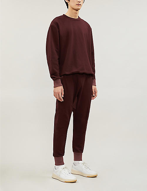 TWENTY Contrast-cuff cotton-blend jogging bottoms