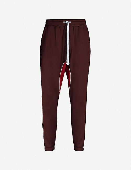 TWENTY Contrast-panel cotton-blend jogging bottoms