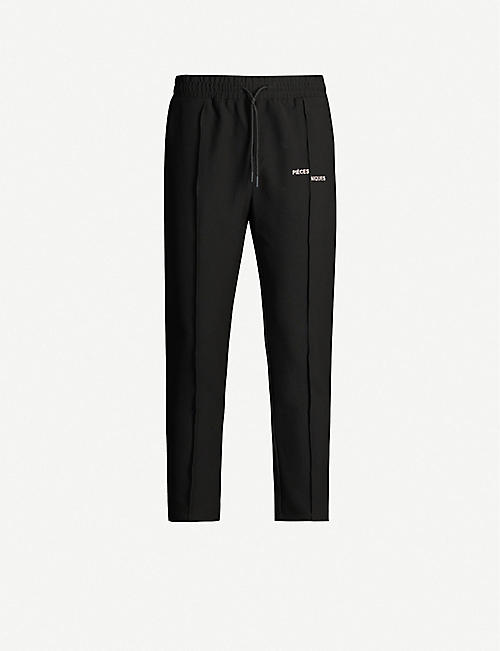 PIECES UNIQUES: Logo-print shell tracksuit trousers