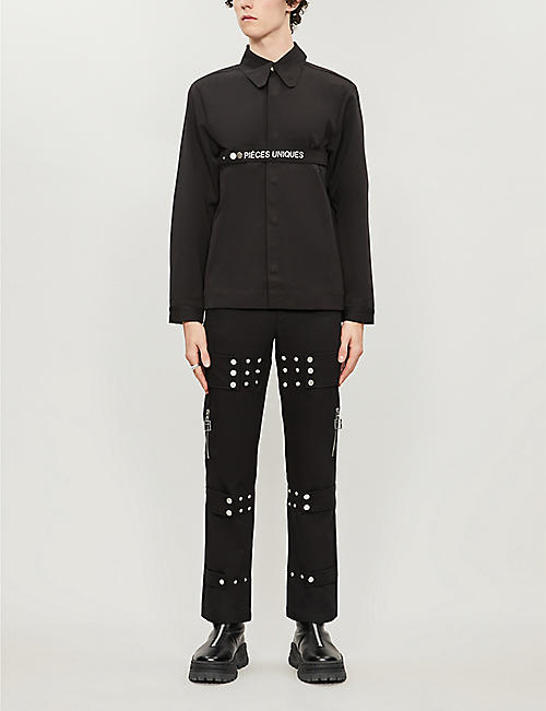 PIECES UNIQUES Multifit straight embellished trousers