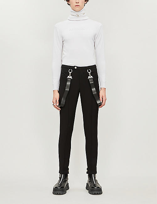 PIECES UNIQUES Guardian Of The Moon tapered stretch-jersey trousers