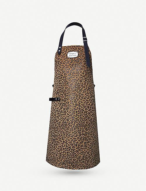 BRICKWALLS AND BARRICADES Leopard-print leather apron