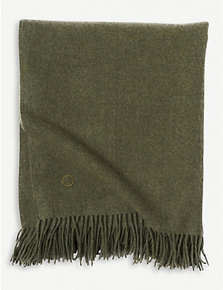 OYUNA: Uno cashmere fringed throw 200x145cm