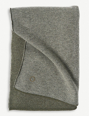 OYUNA Tano cashmere honeycomb knitted throw 180x120cm