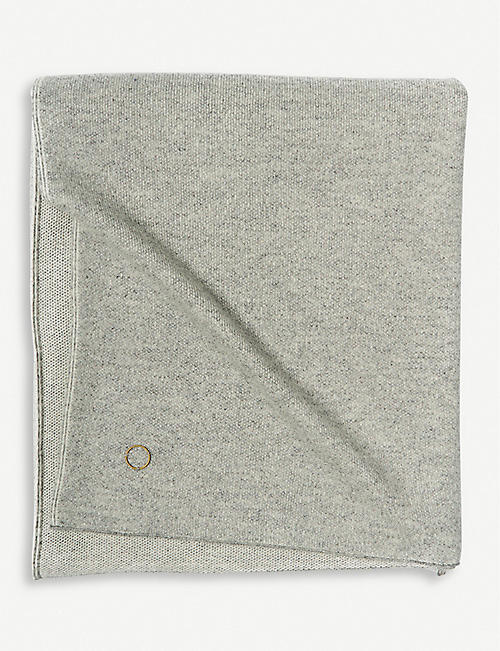OYUNA: Tano cashmere honeycomb knitted throw 180x120cm