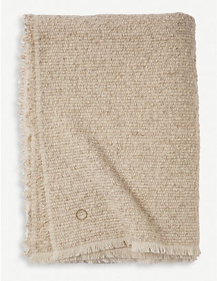 OYUNA: Kalin wool, silk and cashmere boucle-yarn throw 200x140cm