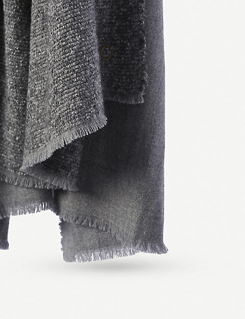 OYUNA Kalo wool and cashmere woven throw 200x140cm