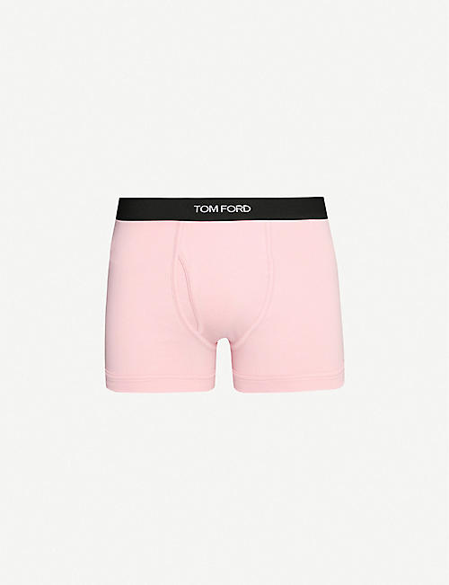 TOM FORD: Logo-embroidered cotton-blend jersey boxers