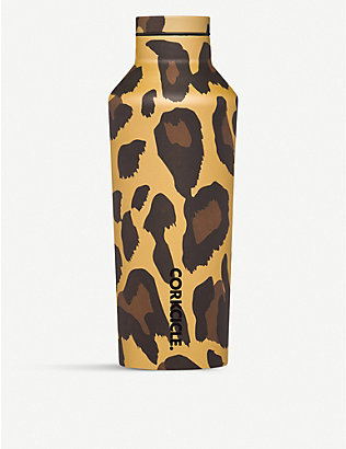 CORKCICLE: Luxe Leopard stainless-steel canteen 250ml