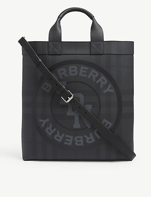 BURBERRY London check leather tote