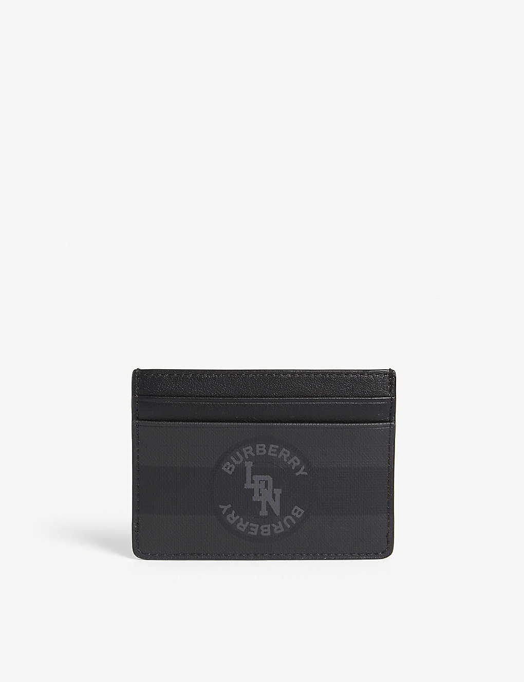 BURBERRY: London check Sandon card holder