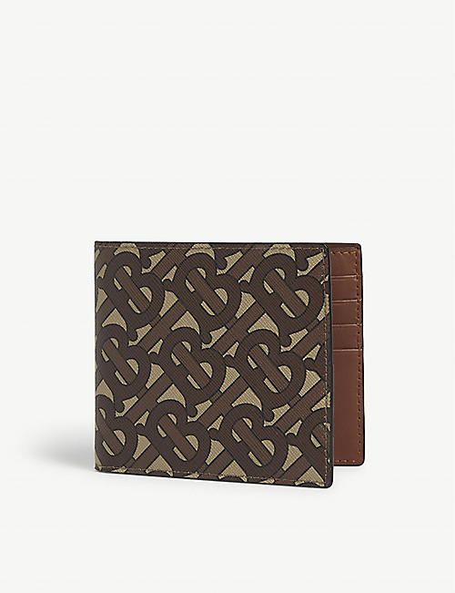 BURBERRY TB logo print leather wallet