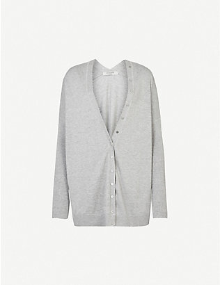 ALLSAINTS: Afelia cowl-neck cotton and cashmere-blend cardigan