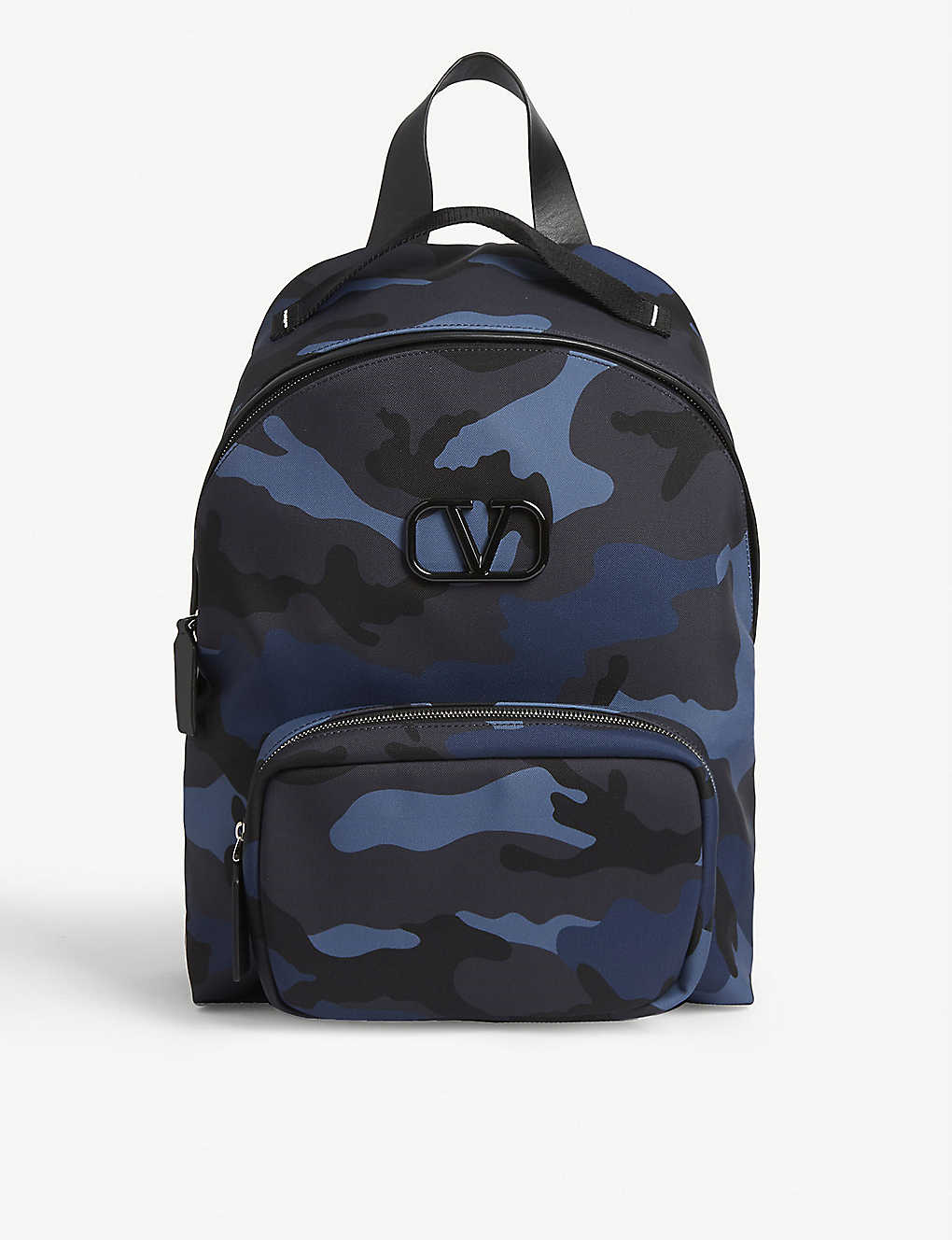 VALENTINO: V-logo camouflage print canvas backpack
