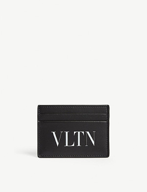 VALENTINO Logo leather card holder