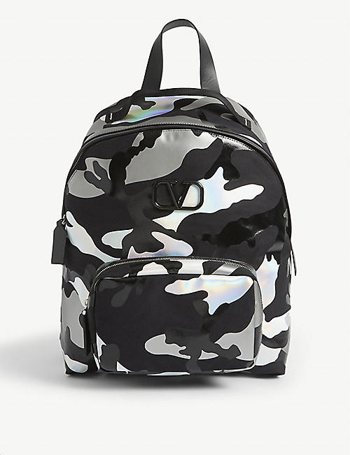 VALENTINO Camouflage space backpack