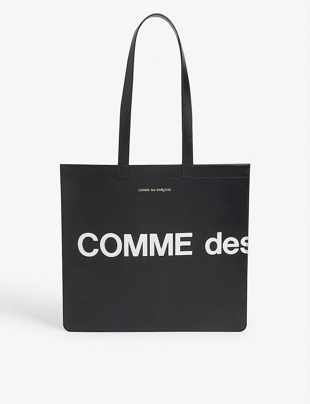 COMME DES GARCONS: Logo-print leather tote