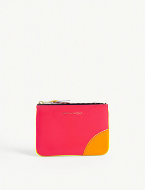 COMME DES GARCONS Super fluorescent leather coin wallet