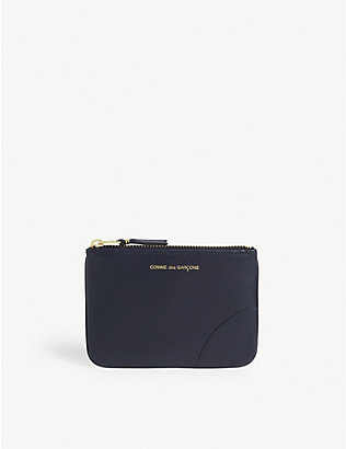 COMME DES GARCONS: Logo leather wallet