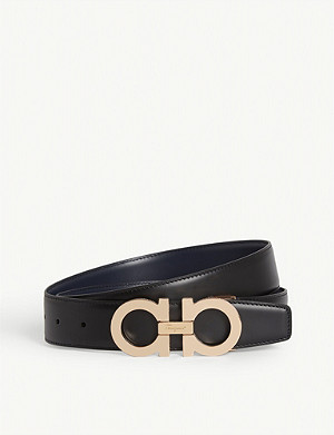 SALVATORE FERRAGAMO Paloma reversible leather belt