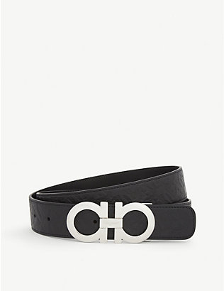 SALVATORE FERRAGAMO: Gancini reversible leather belt