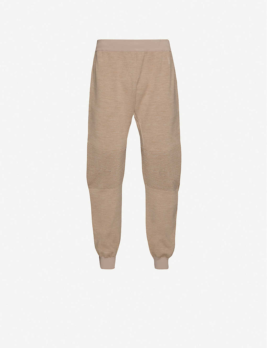 BOTTEGA VENETA: Ribbed-panel wool-blend jogging bottoms