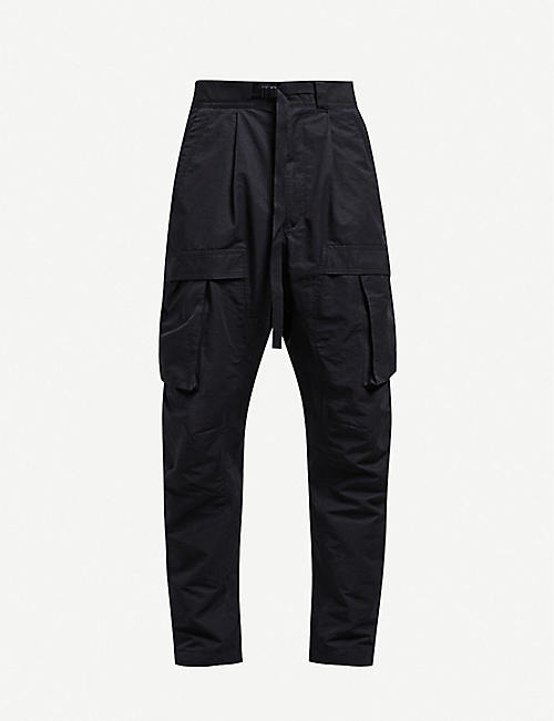 BOTTEGA VENETA Tapered relaxed-fit twill trousers