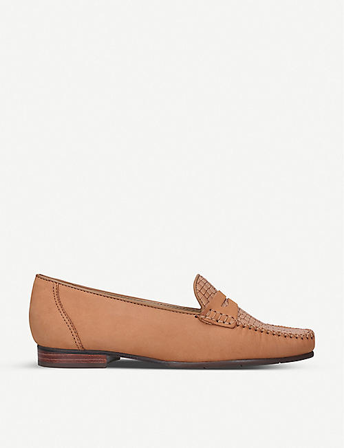 CARVELA COMFORT: Carol snakeskin-print leather loafers