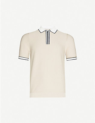REISS: Tobago cotton-knit polo shirt