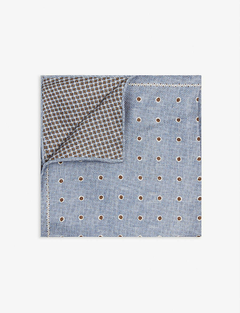 REISS: Lima reversible dot silk pocket square