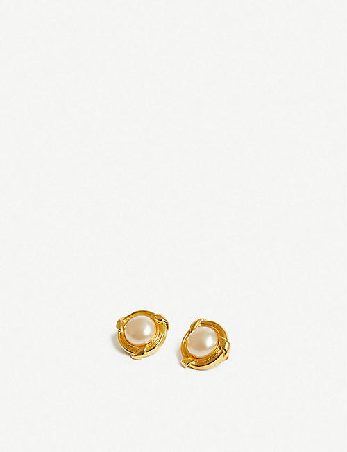 VESTIAIRE COLLECTIVE Chanel pearl-embellished earrings