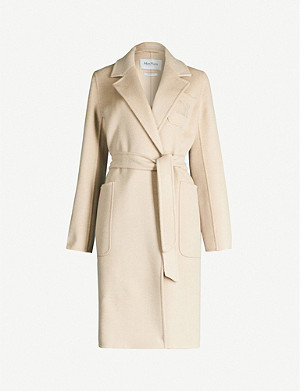 MAX MARA Tie-belt camel-wool coat