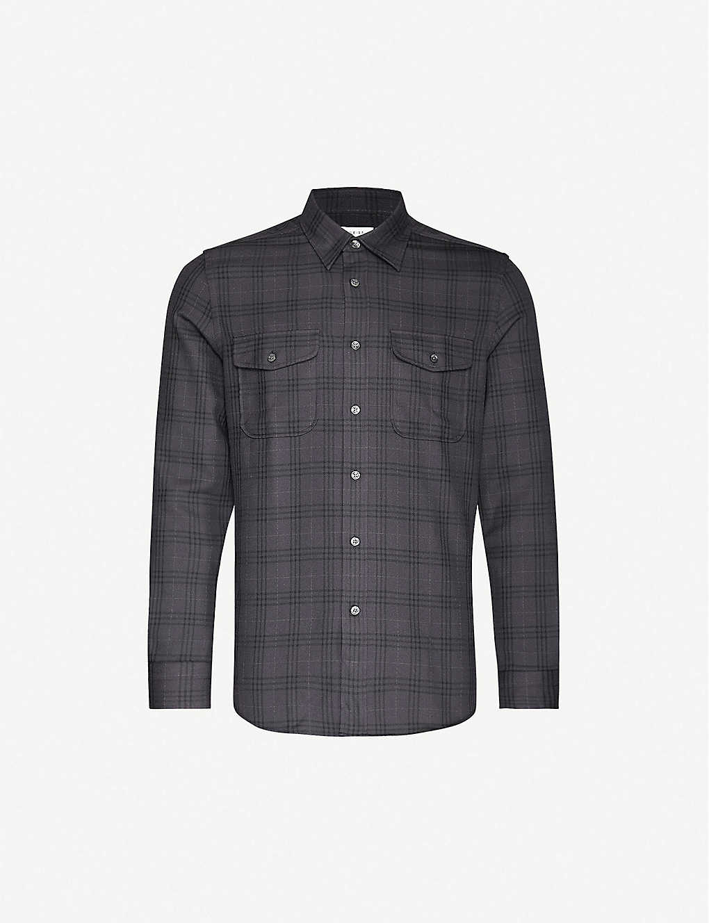 REISS: Talon stretch-woven overshirt