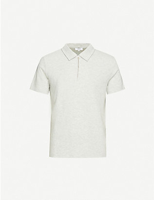 REISS: Barton cotton polo shirt