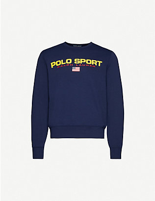 POLO RALPH LAUREN: Sport logo cotton-jersey sweatshirt
