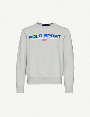 POLO RALPH LAUREN: Sport logo cotton-blend sweatshirt