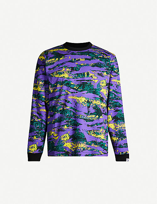 BILLIONAIRE BOYS CLUB: Camouflage-print reversible cotton-jersey sweatshirt